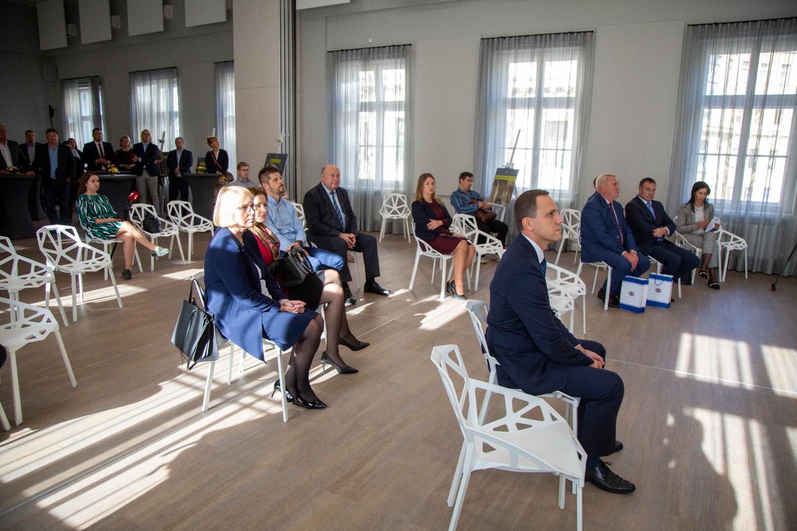 Ieskats atjaunotās Prokuratūras ēkas Aspazijas bulvārī 7 atslēgu nodošanas pasākumā 2020.gada 8.oktobrī -