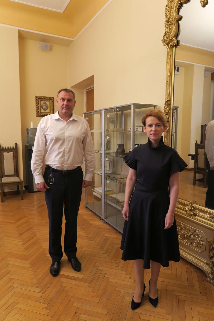 Ģenerālprokurors Juris Stukāns 2021.gada 17.jūnijā tikās ar iekšlietu ministri Mariju Golubevu
