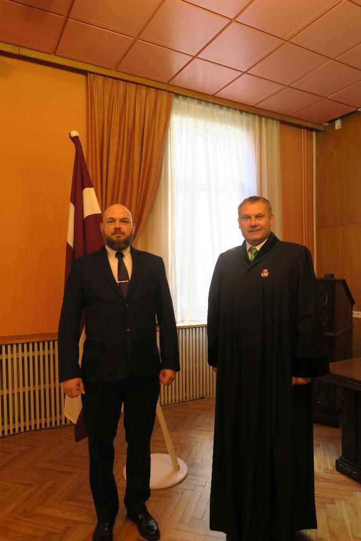 Ģenerālprokurors Juris Stukāns 2021.gada 26.jūlijā pieņem jauna prokurora zvērestu